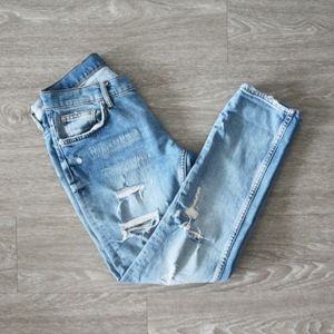 Light Wash Distressed Zara Jeans